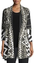 Caroline Rose 3/4-Sleeve Animal Instinct Cardigan, Plus Size