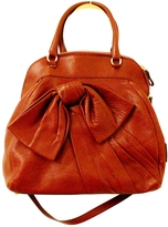 RED Valentino Valentino Red Leather Bow Bag