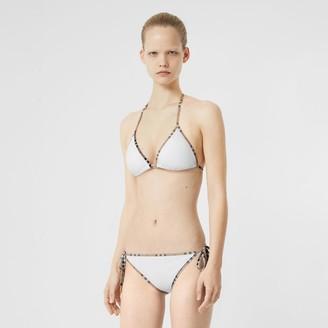 Burberry Vintage Check Detai Triange Bikini