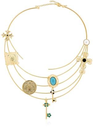 Tommaso Lonardo Rigid Necklace With Charms