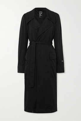 Rick Owens Champion Mesh Trench Coat - Black