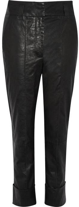 Haider Ackermann Leather tapered pants