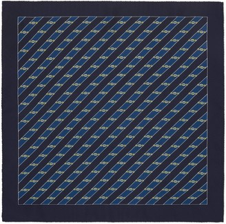 Gucci Interlocking G Horsebit pocket square