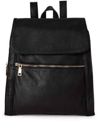 Urban Expressions Black Mick Perforated Backpack