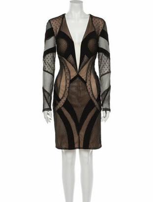 Jovani Printed Knee-Length Dress w/ Tags Black