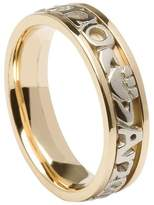 BORU Ladies Mo Anam Cara Irish Wedding Band 14K Gold Size 6.5