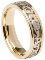 BORU Ladies Mo Anam Cara Irish Wedding Band 14K Gold Size 7.5
