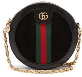 Gucci Ophidia Leather And Suede Cross-body Bag - Black Multi