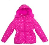 Pink Platinum Star Print Puffer Jacket in Pink