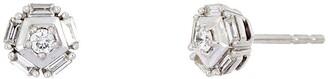 Bony Levy 18K White Gold Getty Flower Diamond Baguette Studs - 0.18 ctw