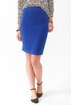 Forever 21 Solid Knee Length Skirt