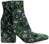 Fausto Zenga velvet ankle boots