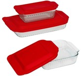 Pyrex 6 Piece Sculpted Bakeware Set