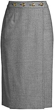 Escada Women's Ratascha Tweed Button Pencil Skirt