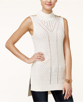 XOXO Juniors' Pointelle Tunic Sweater