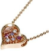 Swarovski Pink Gold Plated Heart Necklace
