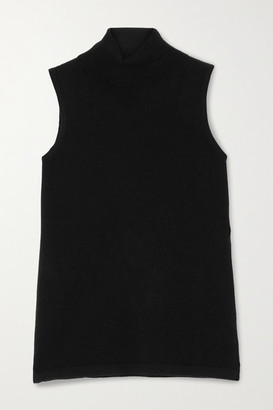 Arch4 Turtleneck Cashmere Tank - Black