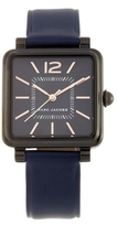 Marc Jacobs Vic IP Stainless Steel & Leather Watch, 30mm