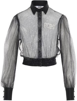 GCDS Glitter Sheer Shirt