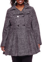 Liz Claiborne Ladylike Wool-Blend Coat - Plus