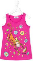 Moschino Kids - monkey print tank top - kids - Cotton/Spandex/Elastane - 6 yrs