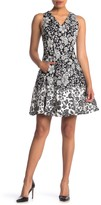 Maggy London Floral Sleeveless Dress (Petite)
