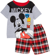 Children's Apparel Network Mickey Mouse Gray Clubhouse Tee & Shorts - Infant & Toddler