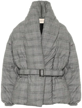 Alexandre Vauthier Checked stretch-wool puffer jacket
