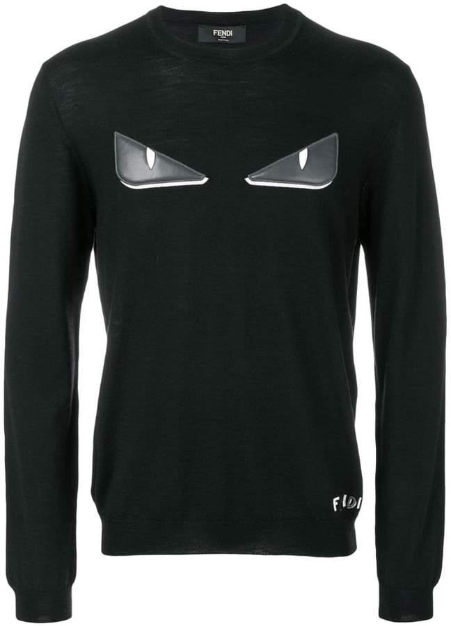 Fendi Bag Bugs-appliqué pullover