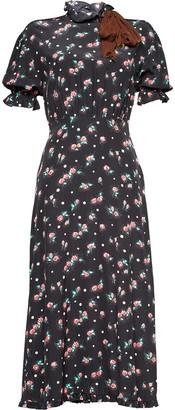 Miu Miu rose print dress