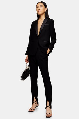 Topshop Womens Ultimate Black Single Breasted Tux Blazer - Black