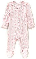 Angel Dear Baby Girls Newborn-6 Months Deer-Print Footed Coverall