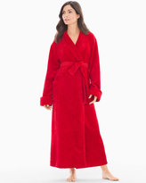 Soma Intimates Long Plush Robe Festive Red