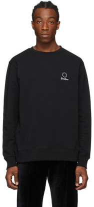 Études Black Story Logo Sweatshirt