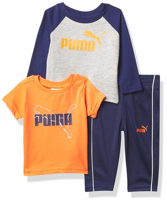 Puma Boys' Short Sleeve Tee Longsleeve Tee & Pant