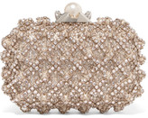 Jimmy Choo Cloud Embellished Satin Clutch - Ivory