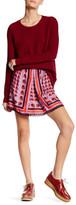 Anna Sui Kitty Kat Print Mini Skirt