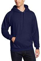 Hanes Men's Pullover EcoSmart Fleece Hoodie, Navy, Small
