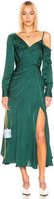 Self-Portrait Self Portrait Asymmetric Jacquard Dress in Green   FWRD