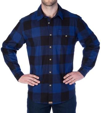 Smiths Workwear Men's Smith's Workwear Buffalo Plaid Flannel Button-Down Shirt