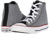 Converse Chuck Taylor(r) All Star(r) Pinstripe (Little Kid/Big Kid) (Black/Garnet/White) Boy's Shoes