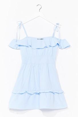 Nasty Gal Womens Sun Trap Ruffle Mini Dress - Blue - 4