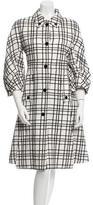 Gucci Plaid Belted Coat