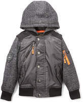 Urban Republic Charcoal Space Dye Hooded Bomber Jacket - Boys