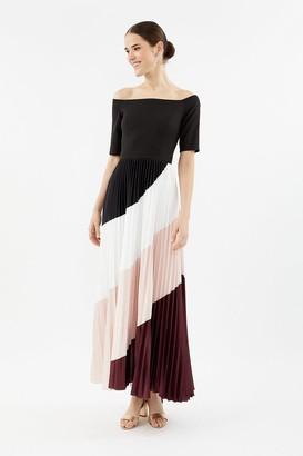 Coast Colour Block Pleat Maxi Dress