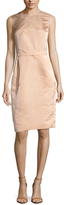 Narciso Rodriguez Satin Belted Sheath Dress