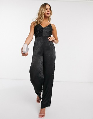 I SAW IT FIRST wide leg jumpsuit in black