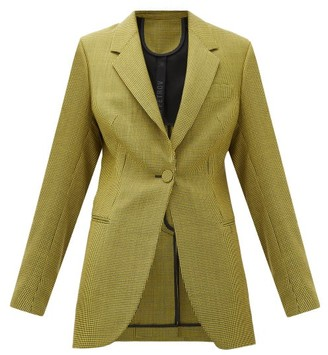 Petar Petrov Jaffa Houndstooth Wool And Mohair-blend Jacket - Womens - Black Yellow