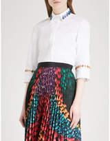 Mary Katrantzou Rita embellished stretch-cotton shirt