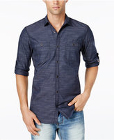 INC International Concepts Men's Long Sleeve Work Stripe Shirt, Only at Macy's